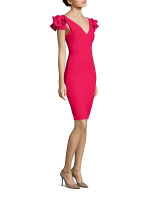 Belvis Flutter Sleeve Sheath Dress
