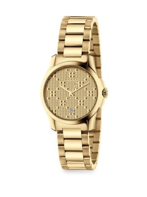G-Timeless New Diamante Small Stainless Steel Bracelet Watch
