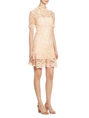 Truss Applique Mini Flare Dress