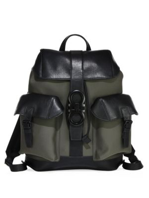Two-Tone Leather Backpack