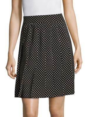 marc jacobs female pleated polkadot silk skirt