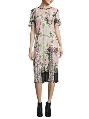 Floral Sheer Panel Dress by COACH
