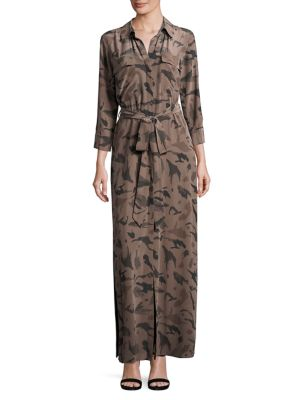 Camo Silk Shirtdress