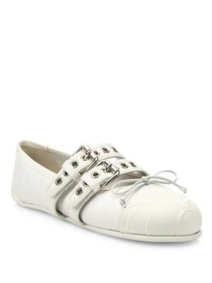 Cap Toe Double-Strap Ballet Sneakers