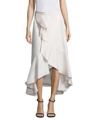 Clara Cotton Ruffle Faux Wrap Skirt