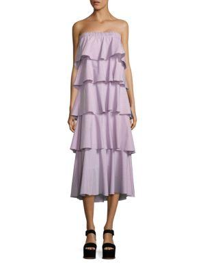 Ellie Tiered Strapless Dress