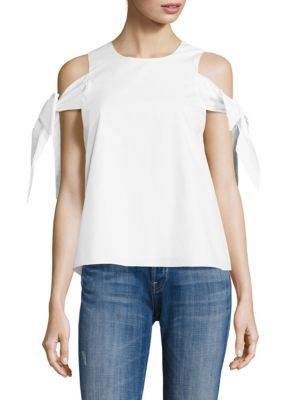 Linda Sleeve Tie Cold Shoulder Top by Prose & Poetry