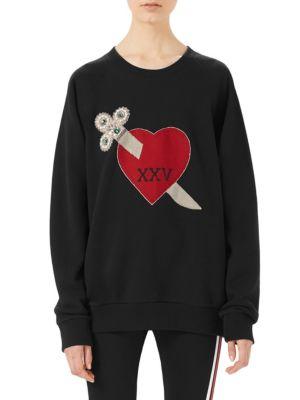 Oversized Heart Dagger Sweatshirt