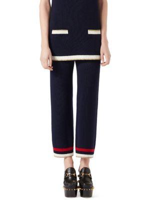 Knit Striped Pants