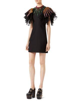 Ruffle Embellished Dress
