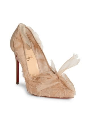 Toufrou 100 Organza Point Toe Pumps