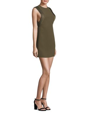 Piped Arm Mini Dress