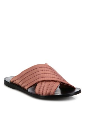 Zissi Frayed Satin Crossover Slides