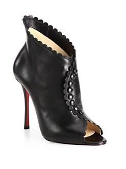 louboutin snakeskin boots