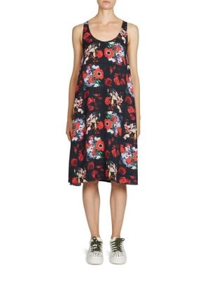 Antonio's Floral-Print Silk Dress