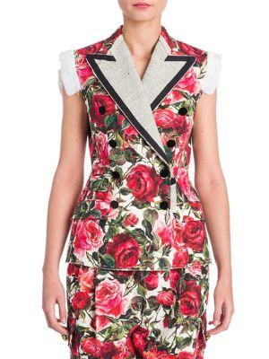 Sleeveless Floral Vest