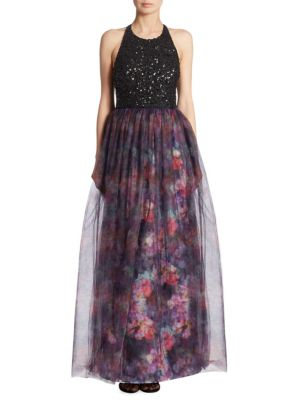 Janet Sequined Silk Gown