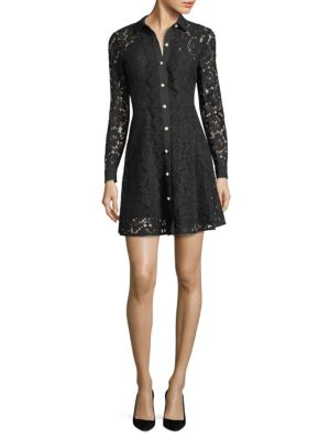 Moonlight Lace Shirtdress