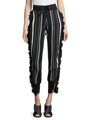 Striped Ruffled Sport Pants