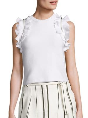 Solid Ruffled Sport Tank Top by 3.1 Phillip Lim