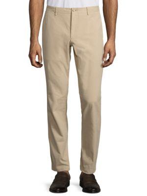 Slim-Fit Pima Cotton Twill Pants