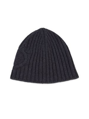 Virgin Wool & Cashmere Knit Beanie Hat