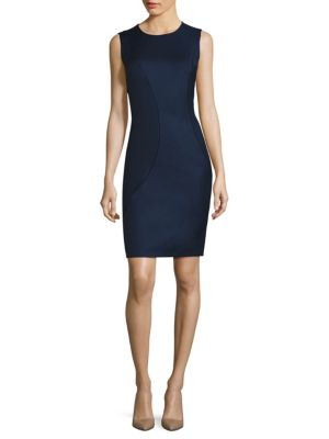 Denesa Piped Sheath Dress