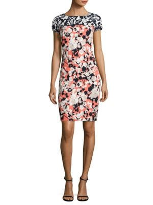 Donisa Floral-Print Sheath Dress by BOSS