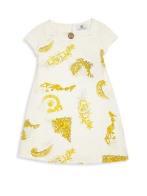 Little Girl's & Girl's Medusa-Print Dress