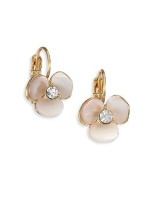 Disco Pansy Mother-Of-Pearl Leverback Earrings