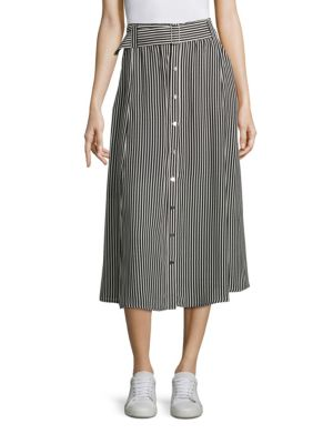 Divya Striped Silk Skirt