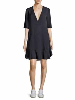 Delaney Ruffled V-Neck Dress