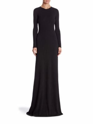 Long Sleeve Cashmere Gown