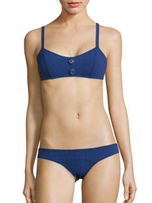 Genevieve Seersucker Two-Piece Bikini