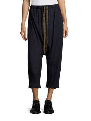 Cropped Drawstring Pants