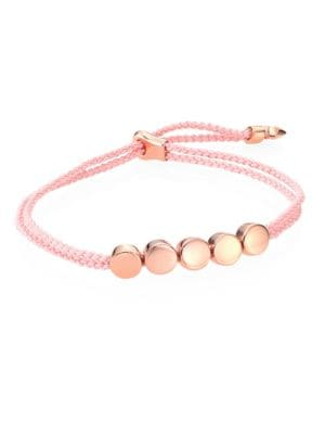 Linear Bead Friendship Bracelet/Ballet Pink