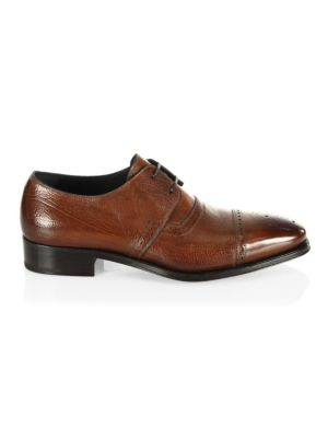 Salvatore Ferragamo Dario Leather Tramezza Shoes Zv7sb