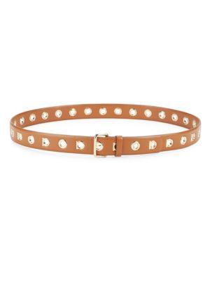 Leather Eyelet Belt