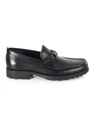 David Gancini Bit Leather Loafers