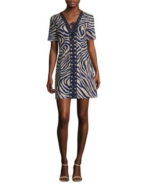 Quincy Lace-Up Linen Dress