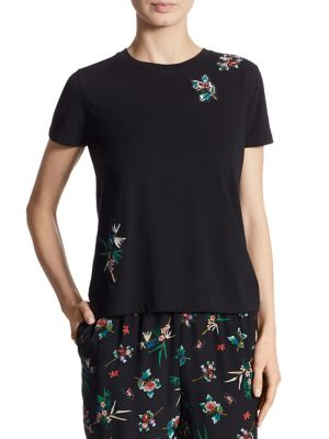 Embroidered Cotton Tee by REDValentino