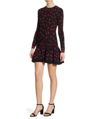 Heart Intarsia Sweater Dress