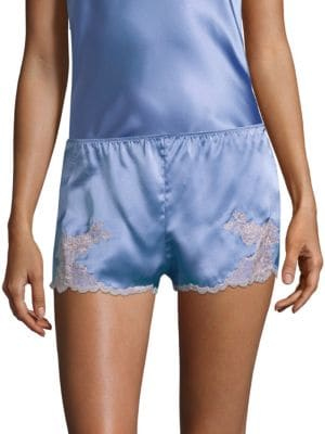 Lolita Silk Sleepwear Shorts, Blue