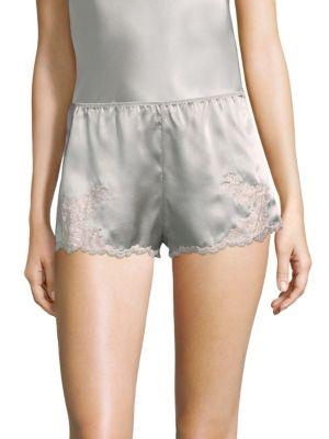 Lolita Silk Sleepwear Shorts, Silver