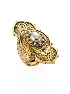 Jeweled Oval Ring