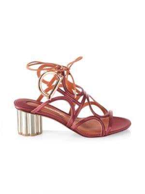 Detailed Gancio Flower Heel Vinci Sandals