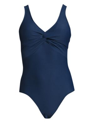 Twisted Front One-Piece Swimsuit