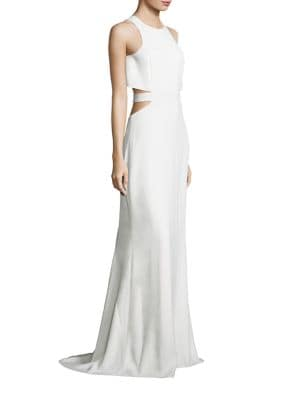 Flowy Back Cutout Gown