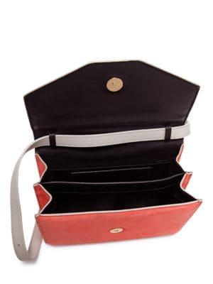 M2MALLETIER Indre Suede & Leather Shoulder Bag