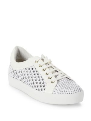 Duha Woven Leather Sneakers